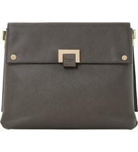 Dune Donner Faux Leather Cross Body Bag Grey Plain Synthetic