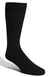 Men's Big And Tall Nordstrom Cotton Blend Socks Black
