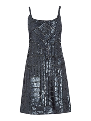 Untold Sequin Shift Dress Gunmetal