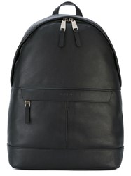 Michael Kors Zip Pocket Backpack Men Leather One Size Black