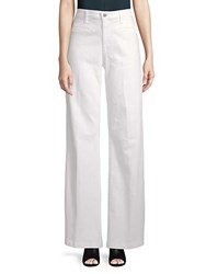Ag Adriano Goldschmied Lana Wide Leg Trousers White