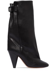 Isabel Marant 90Mm Lakfee Tall Leather Boots Black