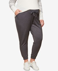 Motherhood Maternity Plus Size Under Belly Jogger Pants Grey
