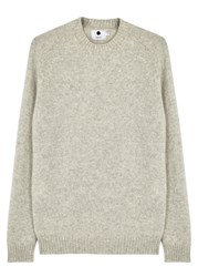 Nn.07 Nathan Stone Wool Jumper Light Grey