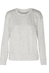 Helmut Lang Cutout Cotton Blend Jersey Sweatshirt