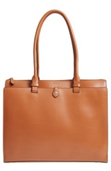 Lodis Jessica Leather Tote Brown Toffee