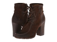 Frye Parker Moc Short Chocolate Oiled Suede Cowboy Boots Brown
