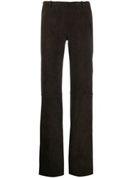 Stouls Oswald Velour Trousers Brown