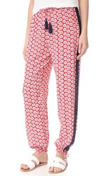 Tory Burch Primrose Beach Pants Nantucket Red Navy Sea White
