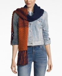 Rampage Colorblock Fringe Scarf Only At Macy's Mulberry Aubergine