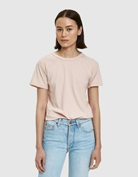 Bliss And Mischief Destroyed Slim Tee In Rose Rosu00e9