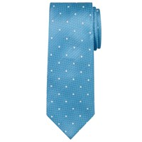Chester By Chester Barrie Semi Plain Dot Silk Tie Mint White