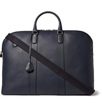 Dunhill Hampstead Leather Holdall Navy