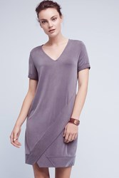 Anthropologie Plunge Tunic Dress Slate
