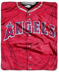 Northwest Company Los Angeles Angels Of Anaheim Raschel Strike Blanket Red