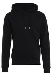 Soulland Guy Hooded With Logo Embroidery Hoodie Black