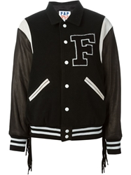 Filles A Papa Fringed Baseball Jacket Black