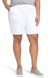 Sejour Plus Size Women's Bermuda Shorts White
