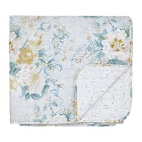 Sanderson Giselle Quilted Bedspread Duck Egg