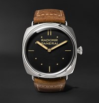 Officine Panerai Radiomir S.L.C. 3 Days 47Mm Steel And Leather Watch Brown