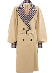 J.W.Anderson Jw Anderson Contrast Check Trench Coat Neutrals