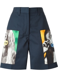 Acne Studios Knee Length Short Blue