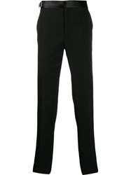 Alexander Mcqueen Harness Strap Tailored Trousers Black