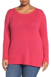 Sejour Crewneck Wool And Cashmere Sweater Plus Size Pink