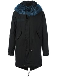 Mr And Mrs Italy Fur Lined Hooded Parka Black