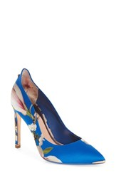 Ted Baker London Hallden Pump Blue Harmony Print Fabric
