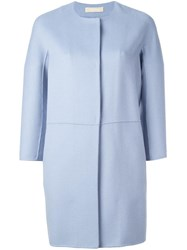 Max Mara 'S Collarless Coat Blue