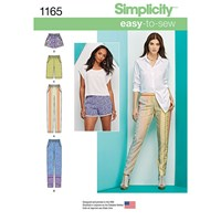 Simplicity Women's Trousers And Shorts Sewing Pattern 1165