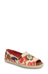 Toms Women's Alpargata Open Toe Slip On White Multi