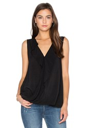 Velvet By Graham And Spencer Britt Ruffle Tank Black