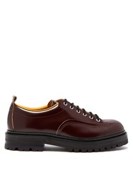 Marni Chunky Sole Leather Derby Shoes Brown