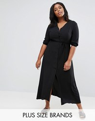 Alice And You Maxi Tea Dress With 3 4 Sleeves Black