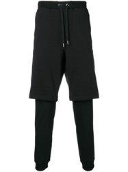 Versace Jeans Layered Track Shorts And Pants Black