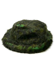 Opening Ceremony Faux Fur Hat Green