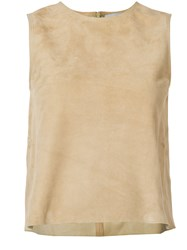 Vince Sleeveless Top Brown
