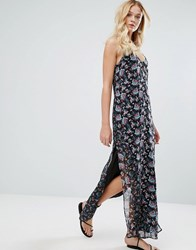 Walter Baker Dakota Dress In Rose Garden And Floral Medley Rose Garden Floral M Black