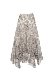 Zimmermann Empire Embroidered High Waisted Skirt
