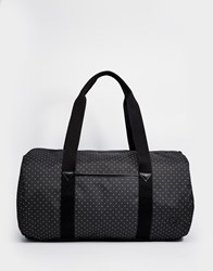 Fred Perry Holdall In Polka Dot Canvas Black