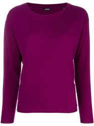 Aspesi Cashmere Fine Knit Sweater Pink And Purple