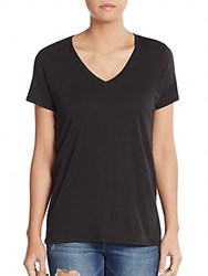 Vince Pima Cotton And Modal V Neck Tee Black
