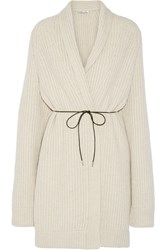 Helmut Lang Oversized Belted Wool Blend Cardigan