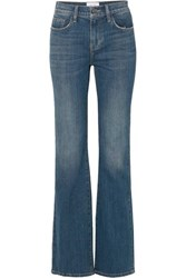 Current Elliott The Jarvis Distressed High Rise Flared Jeans Mid Denim