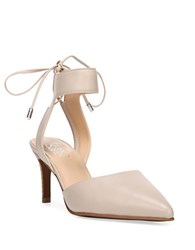 Franco Sarto Darby Leather Pointed Toe Stiletto Heels Beige