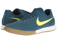 Nike Magistax Finale Ii Ic Mid Turquoise Volt Hasta Gum Light Brown Men's Shoes Blue