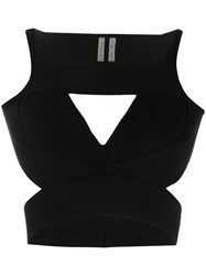 Rick Owens Cut Out Crop Top Black