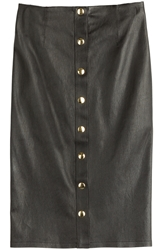 Fausto Puglisi Leather Pencil Skirt